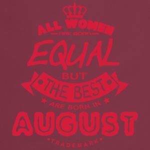 august women equal best born month logo Delantales - Delantal de cocina