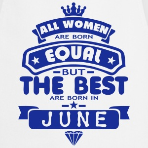 june women equal best born month logo Delantales - Delantal de cocina