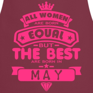 may women equal best born month logo  Aprons - Cooking Apron
