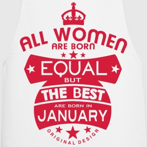 january women equal best born month logo  Aprons - Cooking Apron