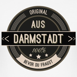 Original aus Darmstadt 100% T-Shirts - Männer Slim Fit T-Shirt