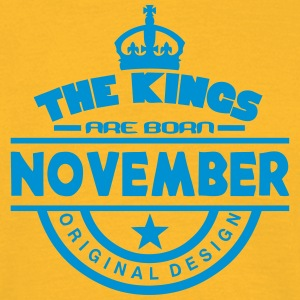 november kings born birth month crown T-Shirts - Men's T-Shirt