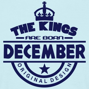 december kings born birth month crown logo T-Shirts - Men's T-Shirt