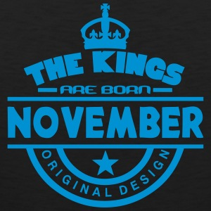 november kings born birth month crown Sportbekleidung - Männer Premium Tank Top