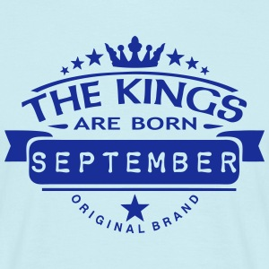 september kings born birth month crown  T-Shirts - Men's T-Shirt