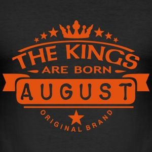 august kings born birth month crown logo T-Shirts - Männer Slim Fit T-Shirt