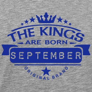 september kings born birth month crown  T-Shirts - Men's Premium T-Shirt