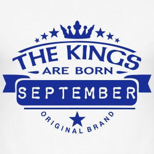 september kings born birth month crown  T-Shirts - Men's Slim Fit T-Shirt