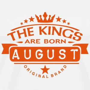 august kings born birth month crown logo Tee shirts - T-shirt Premium Homme