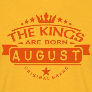 august kings born birth month crown logo T-Shirts - Men's T-Shirt