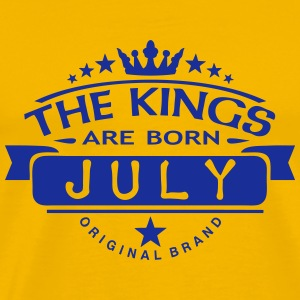 july kings born birth month crown logo T-Shirts - Men's Premium T-Shirt