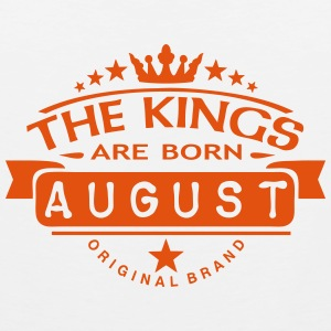 august kings born birth month crown logo Sportbekleidung - Männer Premium Tank Top