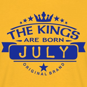 july kings born birth month crown logo T-Shirts - Men's T-Shirt