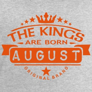 august kings born birth month crown logo Hoodies & Sweatshirts - Men's Sweatshirt by Stanley & Stella