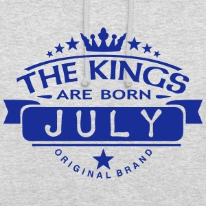 july kings born birth month crown logo Hoodies & Sweatshirts - Unisex Hoodie