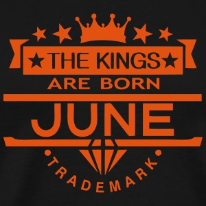 june kings born birth month crown logo T-Shirts - Men's Premium T-Shirt
