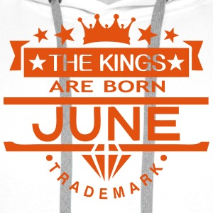 june kings born birth month crown logo Pullover & Hoodies - Männer Premium Hoodie
