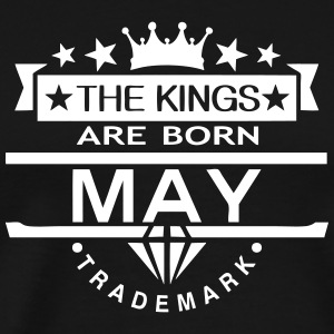 may kings born birth month crown logo Tee shirts - T-shirt Premium Homme