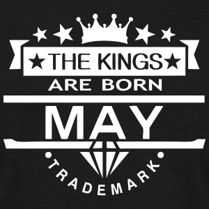 may kings born birth month crown logo T-Shirts - Men's T-Shirt