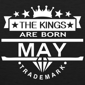 may kings born birth month crown logo Sportbekleidung - Männer Premium Tank Top