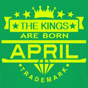 april kings born birth month crown logo T-Shirts - Men's T-Shirt