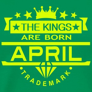 april kings born birth month crown logo Magliette - Maglietta Premium da uomo