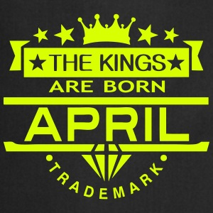 april kings born birth month crown logo  Aprons - Cooking Apron