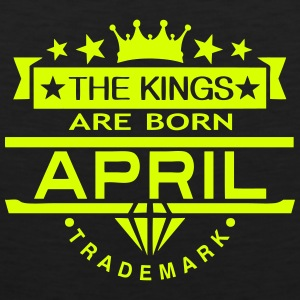 april kings born birth month crown logo Sports wear - Men's Premium Tank Top