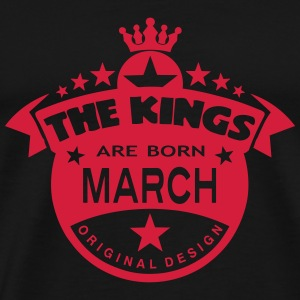 march kings born birth month crown logo Tee shirts - T-shirt Premium Homme