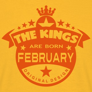february kings born birth month crown Tee shirts - T-shirt Homme