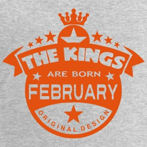 february kings born birth month crown Hoodies & Sweatshirts - Men's Sweatshirt by Stanley & Stella