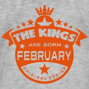 february kings born birth month crown T-Shirts - Männer Vintage T-Shirt