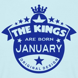 junuary kings born birth month crown Tee shirts - T-shirt Homme