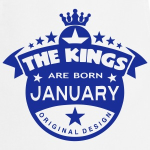 junuary kings born birth month crown  Aprons - Cooking Apron