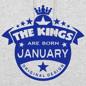 junuary kings born birth month crown Pullover & Hoodies - Unisex Hoodie