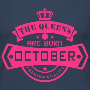 october born queens crown logo Long Sleeve Shirts - Women's Premium Longsleeve Shirt