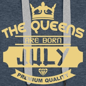 july born queens crown logo Hoodies & Sweatshirts - Women's Premium Hoodie