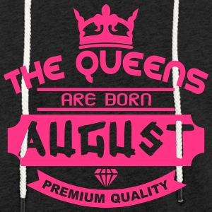 august born queens crown logo Hoodies & Sweatshirts - Light Unisex Sweatshirt Hoodie