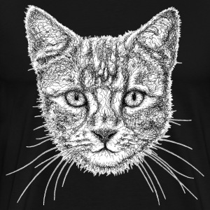 Cat Drawing T-Shirts - Men's Premium T-Shirt
