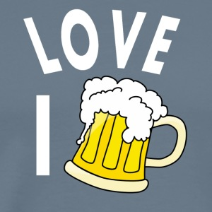 I love beer - Männer Premium T-Shirt