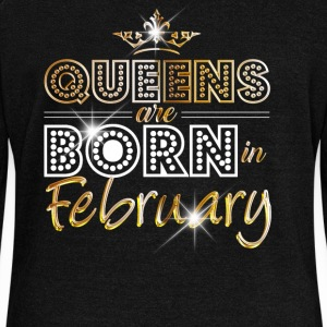 February - Queen - Birthday - 2 Hoodies & Sweatshirts - Women's Boat Neck Long Sleeve Top