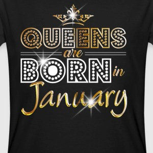 January - Queen - Birthday - 2 T-shirts - Ekologisk T-shirt herr