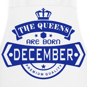 december born queens crown logo  Aprons - Cooking Apron