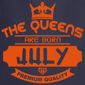 july born queens crown logo  Aprons - Cooking Apron