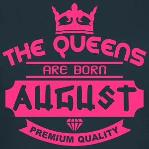 august born queens crown logo Magliette - Maglietta da donna