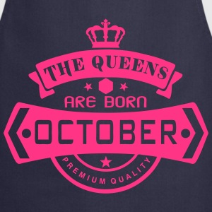 october born queens crown logo  Aprons - Cooking Apron