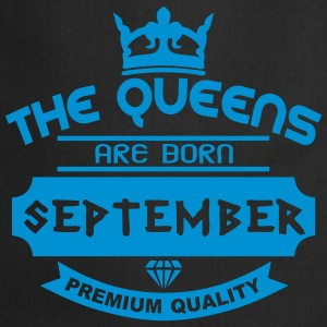 september born queens crown logo  Aprons - Cooking Apron