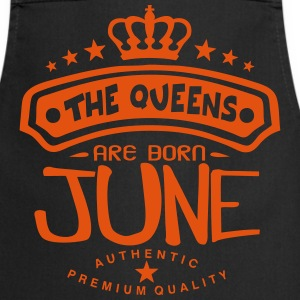 june born queens crown logo  Aprons - Cooking Apron