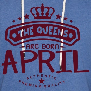 april born queens crown logo Hoodies & Sweatshirts - Light Unisex Sweatshirt Hoodie
