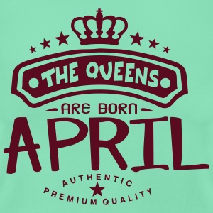 april born queens crown logo Magliette - Maglietta da donna